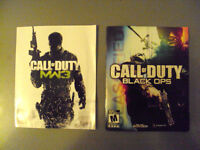 PS3 CALL OF  DUTY BLACK OPS, et MW3