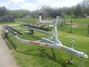 new STEADY Pontoon Trailer 2720lbsCAPACITY+18'-22' -done foolin?
