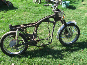 1973 HONDA CB 350 ROLLING CHASSIS PROJECT VINTAGE RACER ROLLER