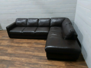 Free delivery: Natuzzi Italsofa Leather Sectional