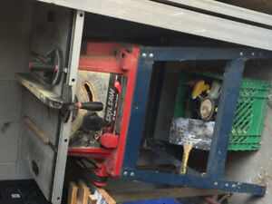 Table saw with stand