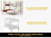 Brand New Wooden Pine and Metal Quality Bunkbed from £139 ( Beds Frames Childrens Bunk Child Bed )