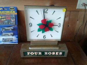 Four Roses Whiskey Clock