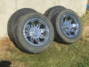 """20""""dodge rims and nitto tires"""
