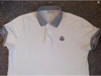 Authentic moncler polo short sleeve(medium)