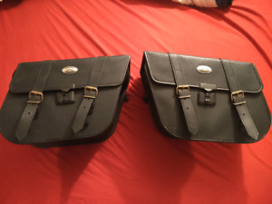 2 Sets Of Motercycle Saddle Bags
