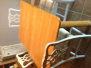 Light wood table - good condition - some scratches.