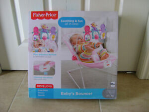 NEW PINK BABY BOUNCER