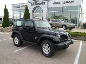 2017 Jeep Wranger Sport 4x4 ( new) with auto & Air! just $35495!