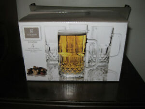 4 Glass Mugs GIBSON (NEW IN BOX)