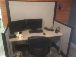 Office desks and partitions for sale