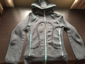 Special edition Lululemon scuba hoodie grey and turquoise green
