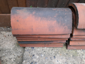 Eight clay ridge tiles used condition Now £5 each