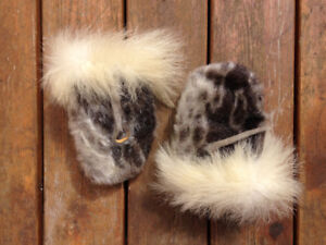 Fur mittens from Greenland, Seal and Polar Bear
