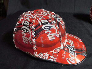 Brand new Coca-Cola Baseball Cap Made From Coke Cans