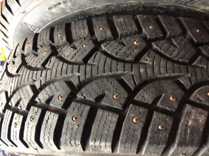 Practically brand new winter studded tires only used 4 months
