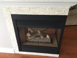 3 sided Gas Fireplace for sale