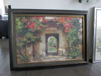 BOMBAY ART Print Of Original Beautifully Framed REDUCED BY $200.