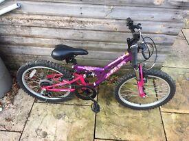 Girls Apollo FS20 Full Suspension Bike. Serviced, Free Lights.