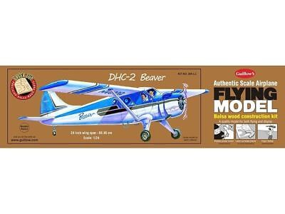 Balsa Wood Flying Model Airplane Guillow's DHC-2 Beaver, Bush Pilot - Wood Airplane