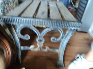 Old Bench with Antique Iron Legs