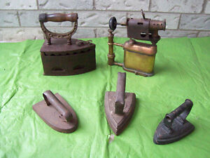 Antique Brass Torches,,Antique Apple Peelers+More IRONS