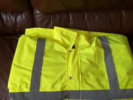 High visibility padded jacket size XL