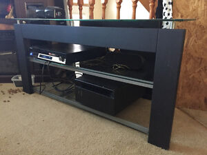 NEW PRICE Glass corner entertainment unit