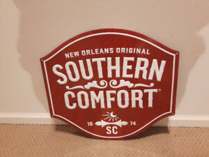 New Orleans Original Southern Comfort 1874 SC tin sign