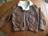 "Winter Sheepskin Leather Jacket ""ORTON OF LONDON"""