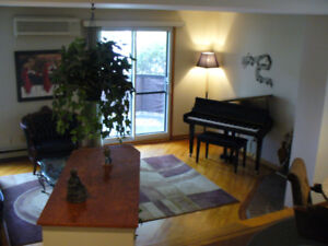 Rent 4 1/2 condo furnished, all equiped, climatised with piano