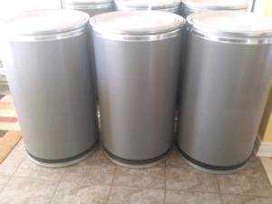 Large shipping fiber barrels 3 for 60$-brampton