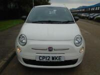 2012 (12) FIAT 500 0.9 START STOP TWINAIR 85 BHP ONLY 28,000 MILES NO ROAD TAX