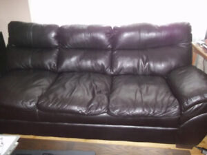 FREE brown leather 3-seat portion of a sectional