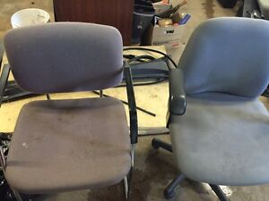 Numerous office chairs
