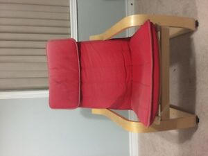 Chair, birch veneer, Ransta red