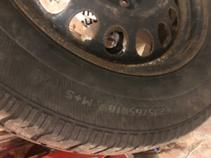 "Used 18"" Jeep Grand Cherokee Winter Tires on Steel rims"