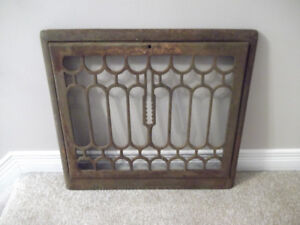 Antique Upright Cast Iron Wall Grate