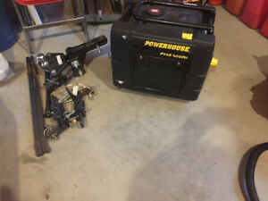 Husky hitch with sway system and 3100 powerhouse generator