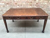 Mahogany Writing Table - Leather top