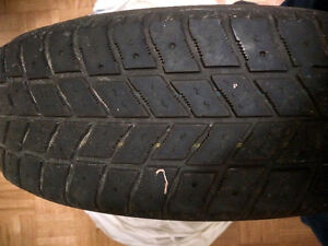 4 well loved winter tires with spacers