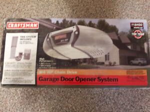 Craftsman 3/4 hp chain drive garage door opener system