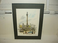 Unframed Trafalgar Square in London print