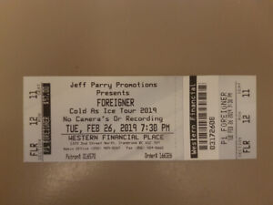 5 Foreign floor tickets to sold out concert