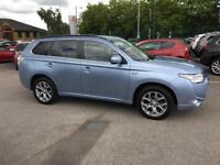 2014 Mitsubishi Outlander 2.0 PHEV GX4h 5dr Auto Petrol/PlugIn Elec Hybrid blue
