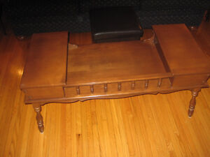 Antique Coffee Table with Cool Storage Drawers Peterborough Peterborough Area image 1