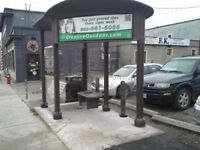 Need helper to install a bus shelter $200