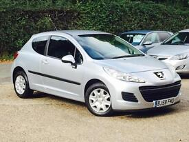 2009 Peugeot 207 1.4 VTi 95 ( a/c ) S 3 Door Silver only 56,860 Miles FSH SUPERB