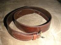 "leather - ""Banana Republic"" black, ""Omega"" brown"