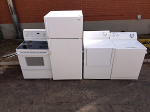 Fridge stove washer and dryer (electric)